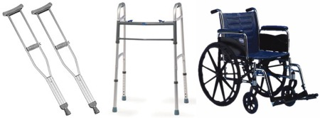 Crutches, Walkers, and Wheelchairs